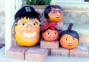 The Cruz (as pumpkins) Family